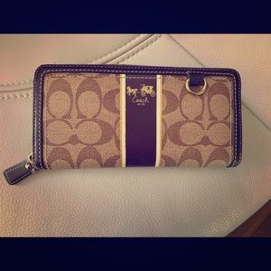 Coach Accordion Jacquard Wallet